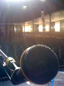 Sound check at Worcester